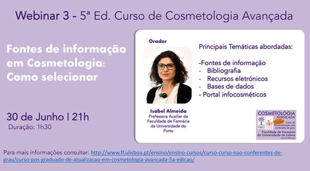 """Webinar """"Fontes de informação em Cosmetologia: Como selecionar"""""""