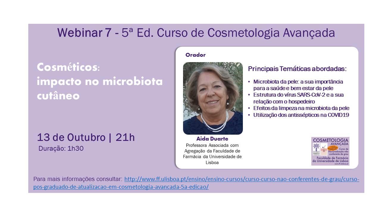 """Webinar """"Cosméticos: impacto no microbiota cutâneo"""""""